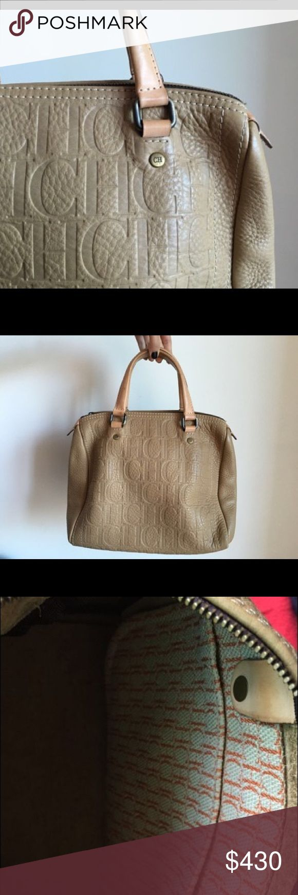 Carolina Herrera Andy Boston Nude Satchel Like new. This item may have been worn but has no visible signs of wear. Carolina Herrera Bags Satchels