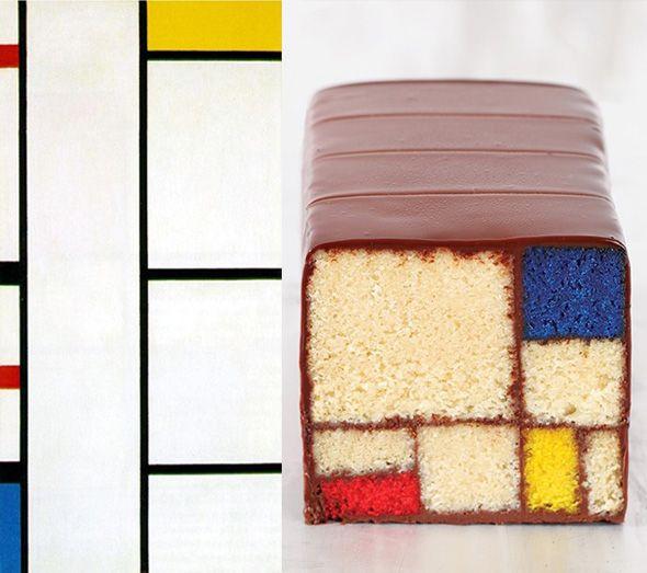 Modern art desserts.