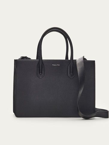 Fall Winter 2017 Women´s SOLID LEATHER TOTE BAG at Massimo Dutti for 149. Effortless elegance!