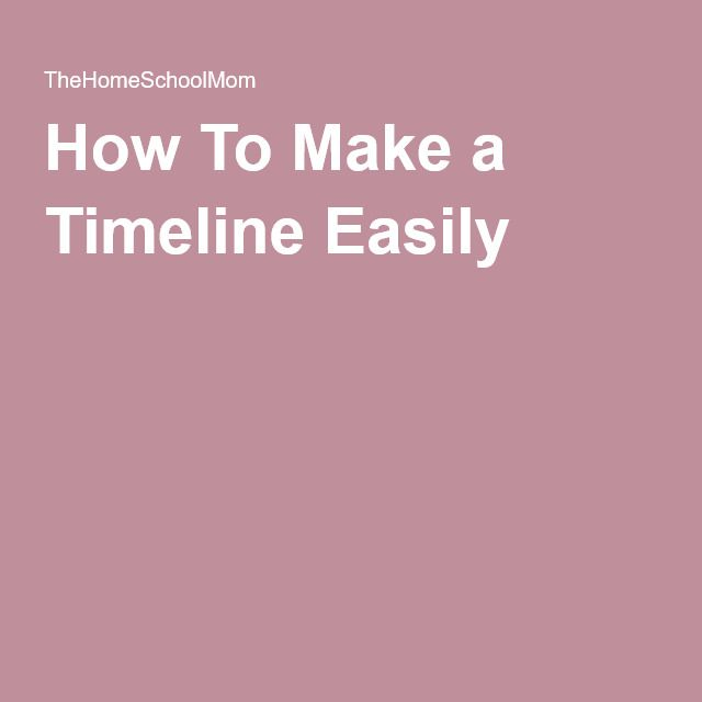 How To Make a Timeline Easily