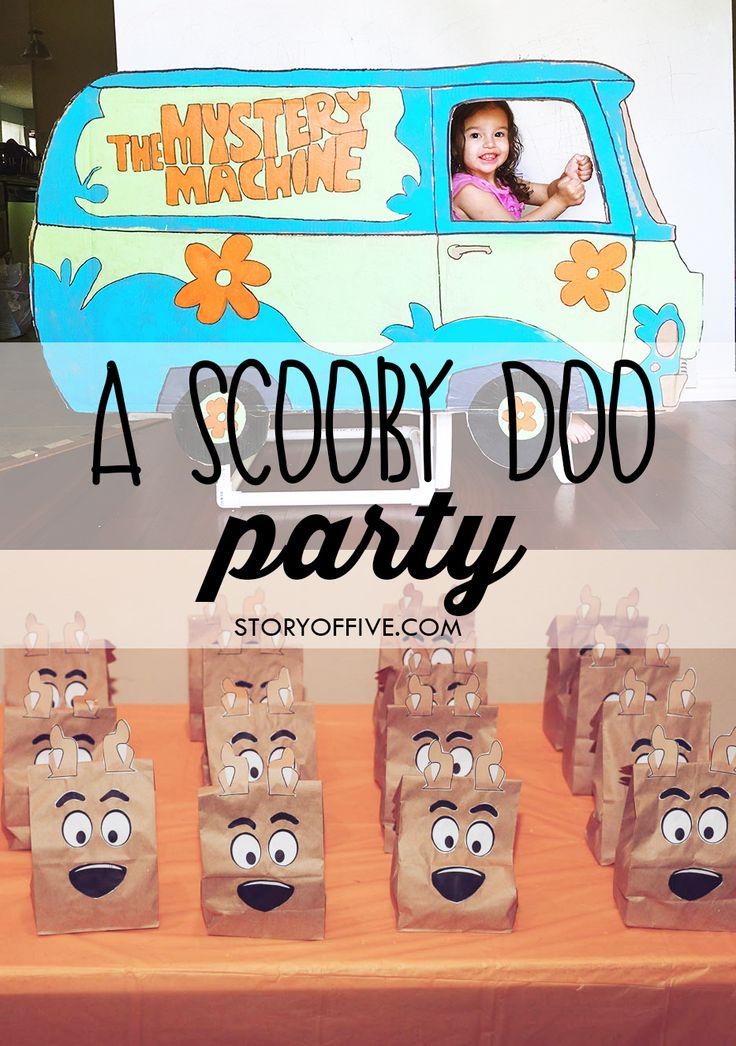 A Scooby Doo Birthday Party with a DIY Printable Scooby Doo Printable Treat Bag. Click to read or pin and save for later.