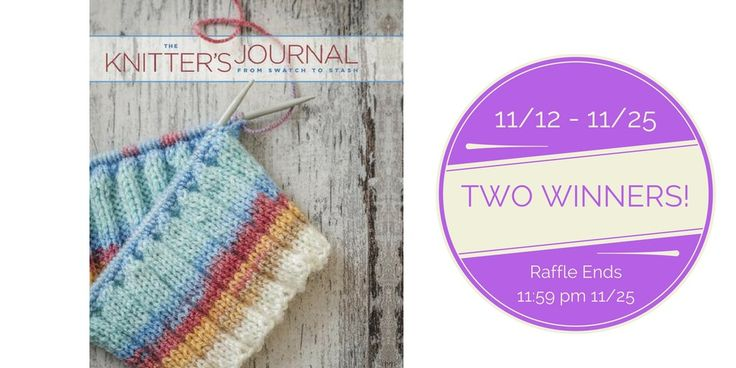 "Enter to win a copy of the ""The Knitter's Journal"", a must-have for every knitter's library!!"