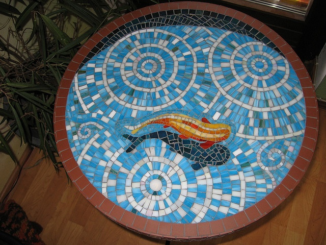 """""""fish on a table"""" by Herzstücke Mosaic Masks, via Flickr"""