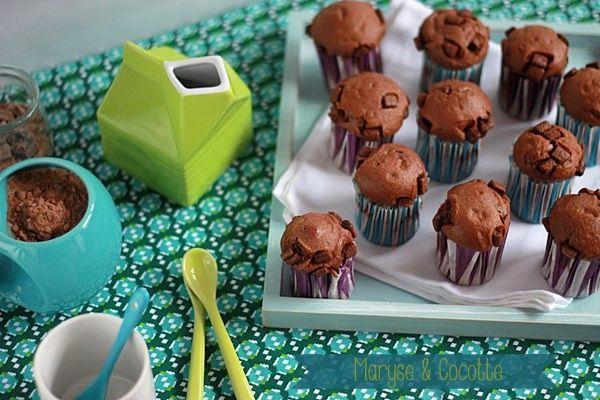 Muffins Choco au Yaourt Grec – Maryse & Cocotte