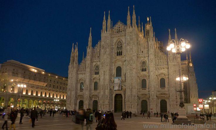 Duomo of  in Milan (Italy) at darkening