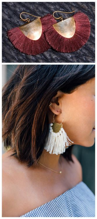 DIY Hazel Cox Inspired Fringe Earrings Tutorial from Honestly...