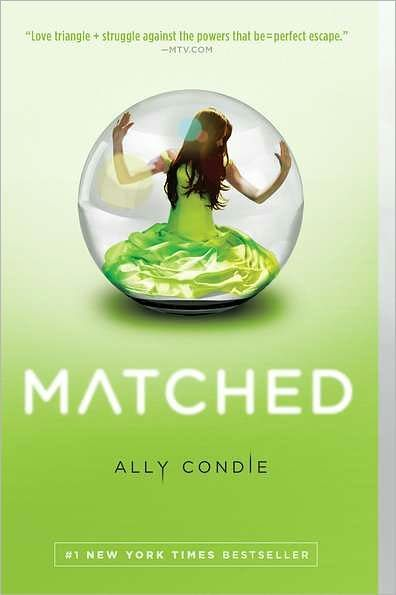 "Jennifer in Material Sourcing recommends ""Matched"" by Ally Condie, the first book in a young adult dystopian trilogy published by Dutton Books."