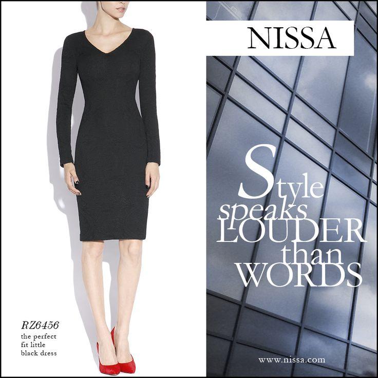 The perfect fit little black dress  rochie: http://goo.gl/X0XG1N  #style #nissa #perfect #littleblackdress #dress #black #stylish #fashion #fashionista #officewear #officestyle