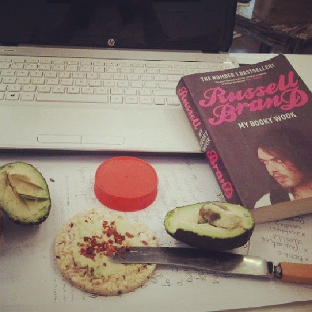 Instagram photo by @Velocity Of Mind via ink361.com  Nothing beats some avocado, russel brand and some corn crackers