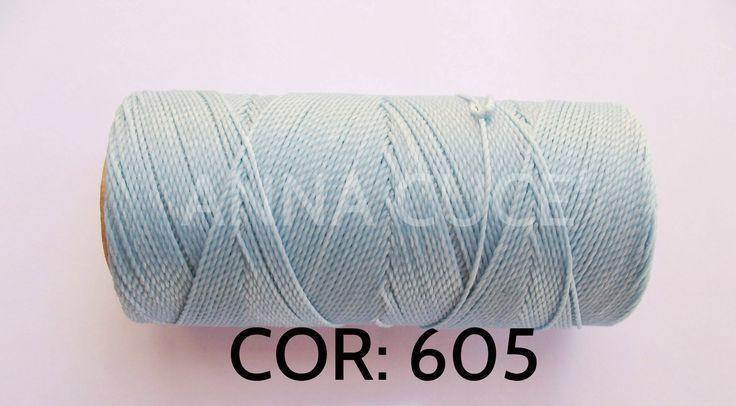 COLORE: 605 - 20 metri filo cerato LINHASITA 1 mm di spessore, filo per macramè, materiali : Merceria di annacuce