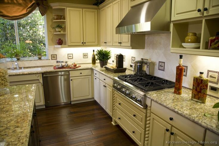 75 best antique white kitchens images on pinterest for Ideas to redo old kitchen cabinets