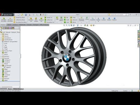 Solidworks tutorial | sketch Wheel Rim in Solidworks - YouTube