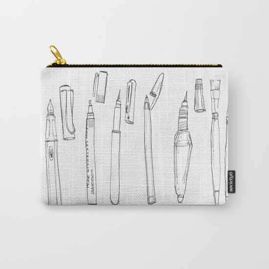 The weapons Carry-All Pouch by World Sketching Tour - Luís Simões | Society6