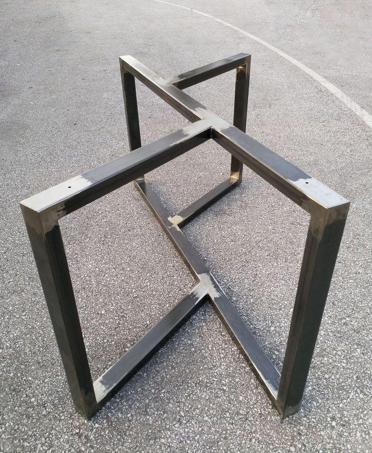 Solid Steel Handmade Table Base Legs For Reclaimed Wood Live Edge Concrete Marble Table T 2020 Cam Masa Kaynak Yapma Projeleri Metal Sanati