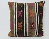24x24 kilim pillow sophisticate euro sham  kilim pillow 24x24 couch pillow oversized pillow cover large cushion cover euro pillow sham 28863