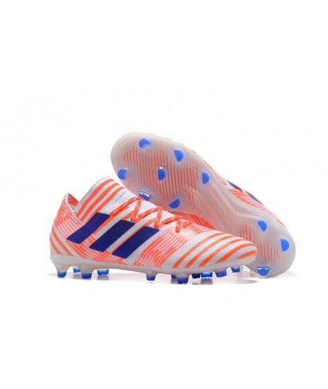 Herren Adidas Nemeziz 17.1 Firm Ground Rot Blau Weiß Fussballschuhe Einzigartig Designed
