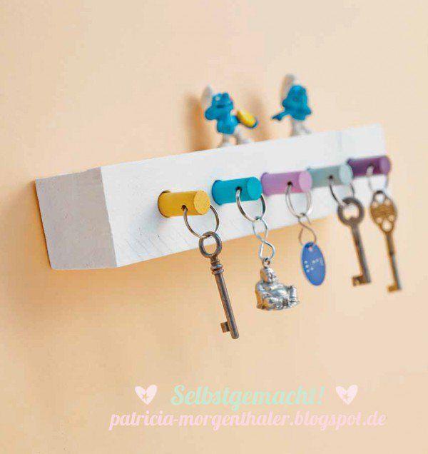 DIY: praktisches Schlüsselbrett