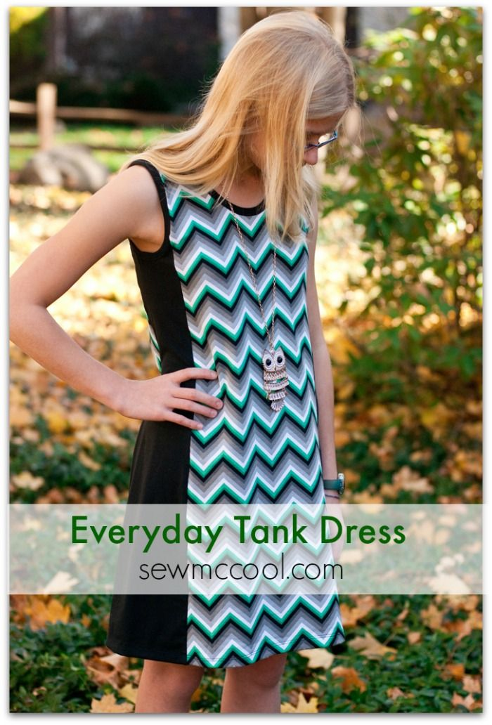 Everyday tank dress review. Pattern by SergerPepper. Sewn by Deanna of sewmccool.com.  #sewing #patternreview