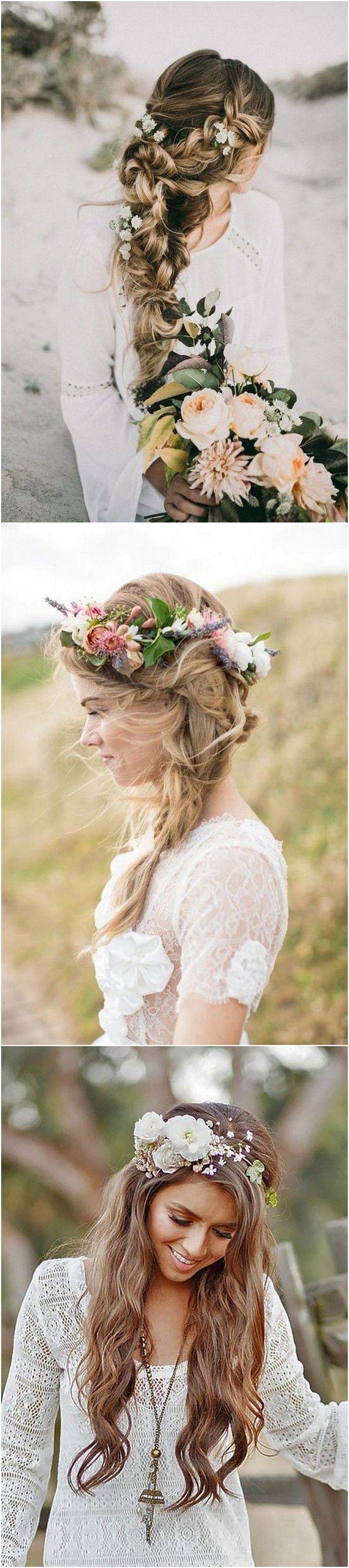 20 Boho Chic Hochzeitsfrisuren für Ihren großen Tag – Bridal Hair