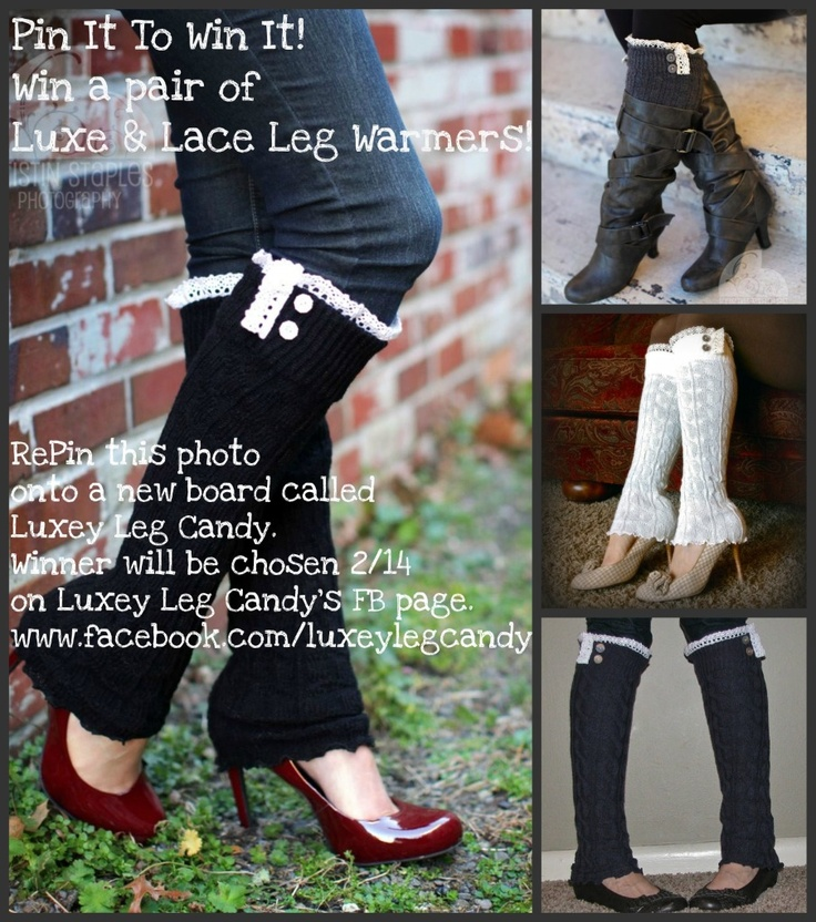 Just RePin for a chance to win! Winner announced 2/14 on Luxey Leg Candy's FB.   www.facebook.com/luxeylegcandy