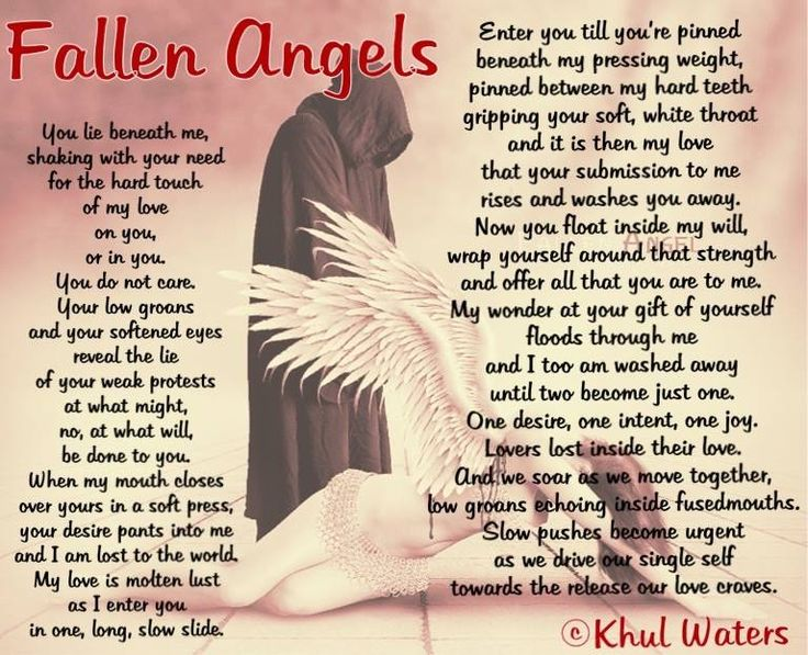 Fallen Angels  You will will find this in Four Ls, paperback of my poetry  (Available from CreateSpace / Amazon)