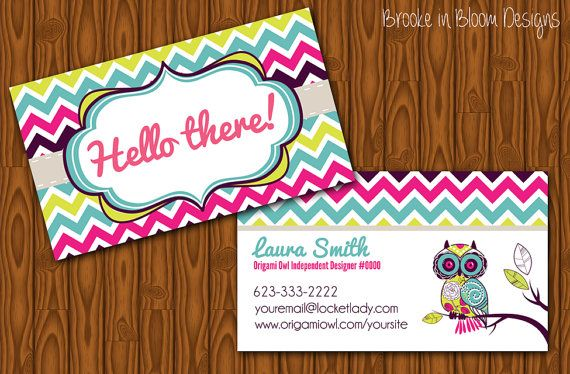 22 best cute owl business cards images on pinterest visit cards custom origami owl business card printable by brookeinbloomdesigns 800 colourmoves