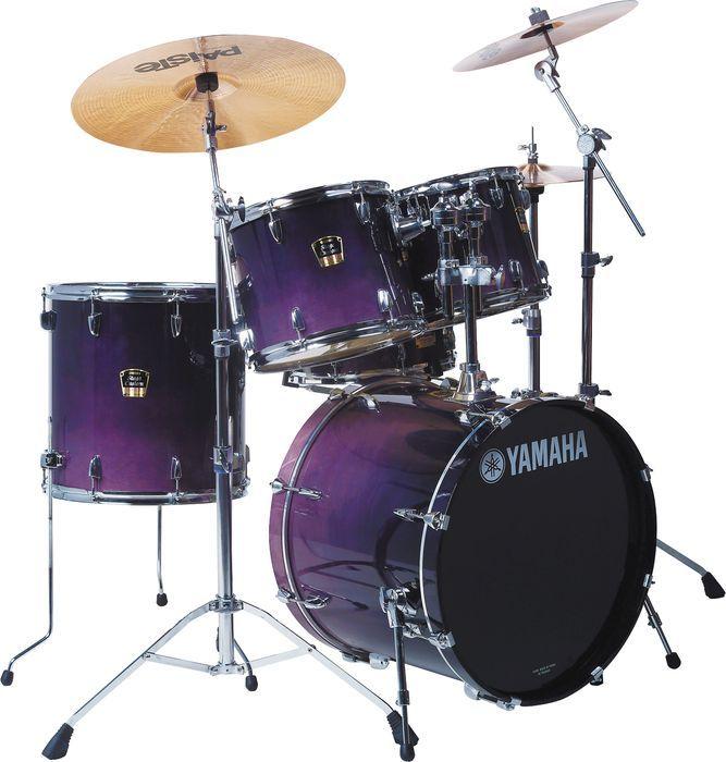 purple drum set | ... Stage Custom Advantage Standard 5-Piece Drum Set Purple Blue Fade
