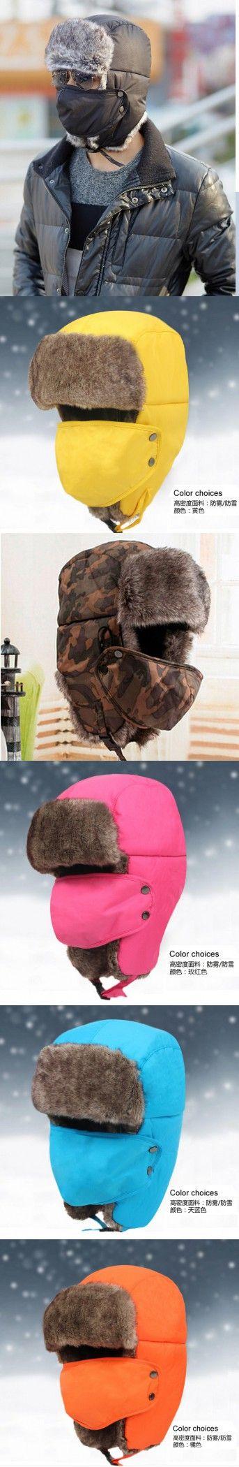 2015 new arrival fashion ushanka russian hat Bomber fur winter hats sports snow outdoor aviator ear flaps cap for men&women A88 $17.76