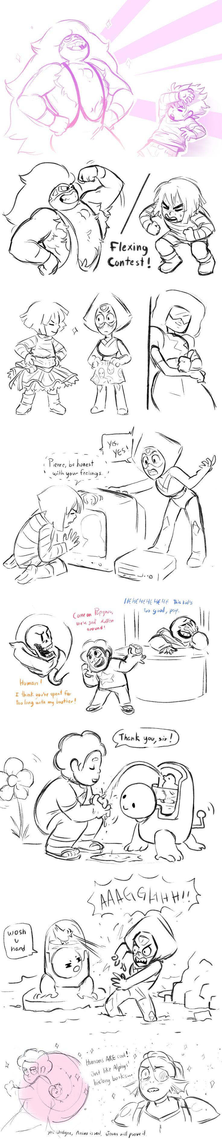 Undertale and Steven Universe crossover