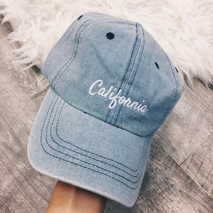 California Vintage Denim Cap
