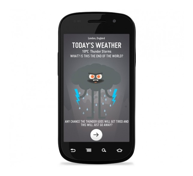 Optimistic weather app by Nation
