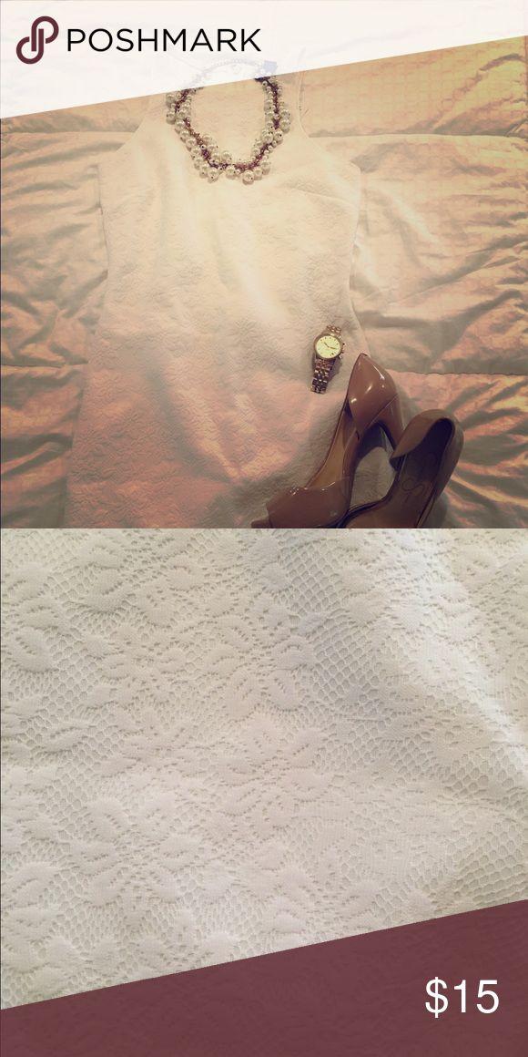 White Bridal Shower Dress Perfect white dress for your bridal shower or rehearsal dinner! Never worn! Forever 21 Dresses Wedding