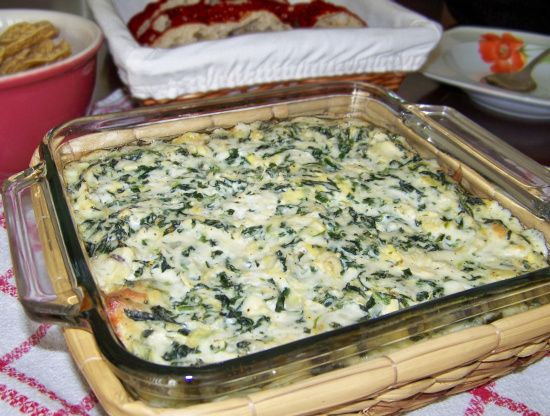 I found this spinach artichoke dip online somewhere, but I cant remember the site. Its so easy to make and tastes very good.