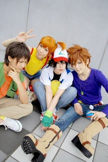 Brock, Misty, Ash, and Gary - Pokemon CosplayToo bad none (really NONE) of my friends enjoy Pokemon