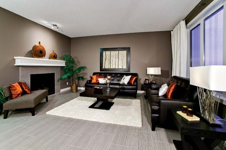 Living room in in Leera Showhome in Sherwood in northwest Calgary, Alberta, by Shane Homes