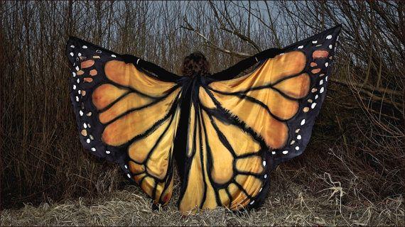 Mariposa de la danza del vientre  pintadas de seda por PracowniaDor