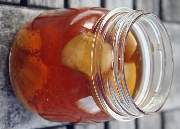 All Natural Cough Syrup / All Natural Sore Throat Syrup / Cough and Sore Throat Home Remedy / Garlic Honey for Cough and Sore Throat