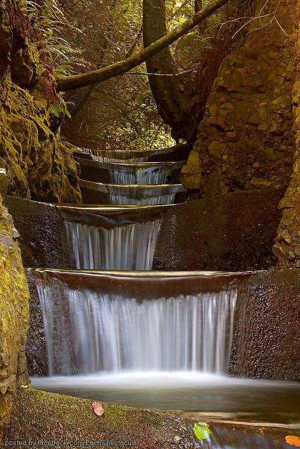 """Endless Waterfall""  Cummins Creek, Oregon, USA 
