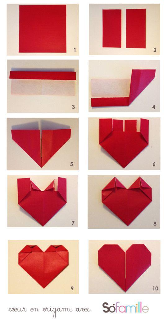 Coeur En Papier Origami
