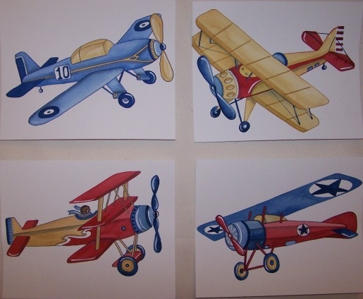Vintage Airplanes Little Planes Tyson Kids Art Nursery | eBay. >>>>When was the last time you were in a real AVIATION THEMED RESTAURANT? Tell your ARIZONA FRIENDS that we'd love them to visit our restaurant, the LEFT SEAT WEST, in Glendale, Arizona!  Check out our Facebook page! http://www.facebook.com/pages/Left-Seat-West-Restaurant/192309664138462