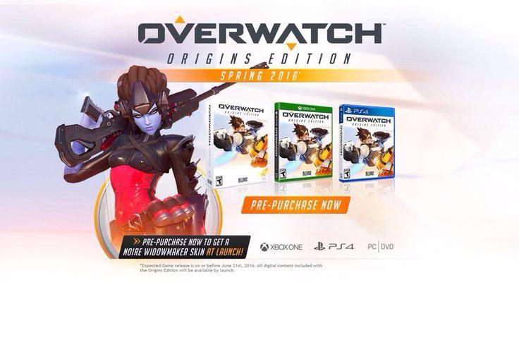 Overwatch preorders beginning now.