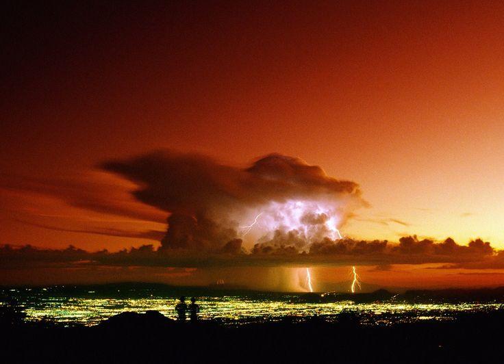 Monsoon Thunderstorm Over Tucson Arizona Nevada Utah