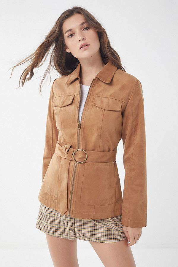 82d8451c Sale Items in Women's Clothing. $109 Urban Outfitters - Slide View: 1: UO  Suede Belted Safari Jacket