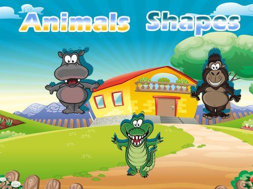 لعبة اشكال الحيوانات Animals Shapes Animals Animals Wild Pet Birds