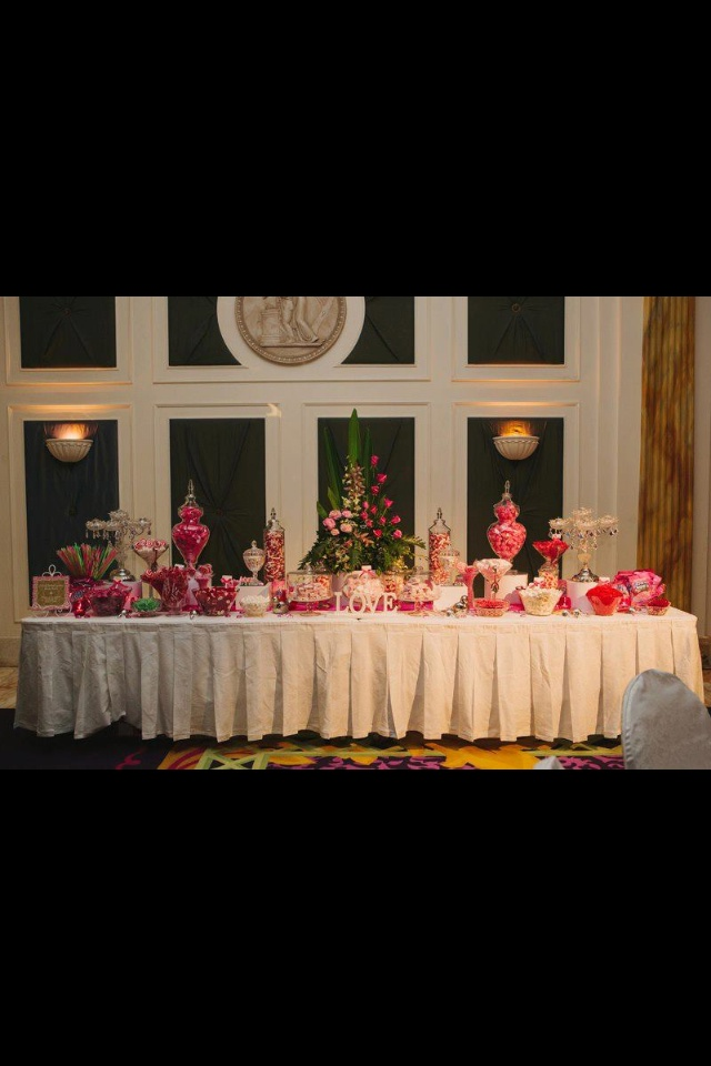 Candy buffet brought to you by lavish tea events @ Palazzo Versace