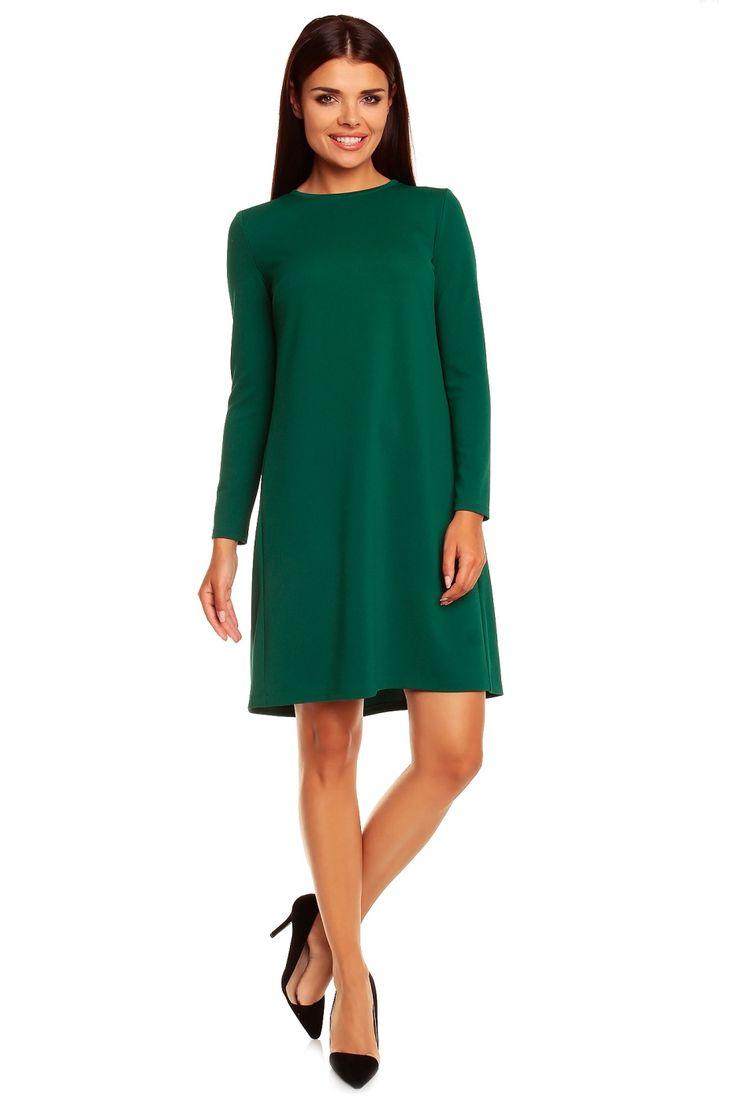 Casual smart green dress