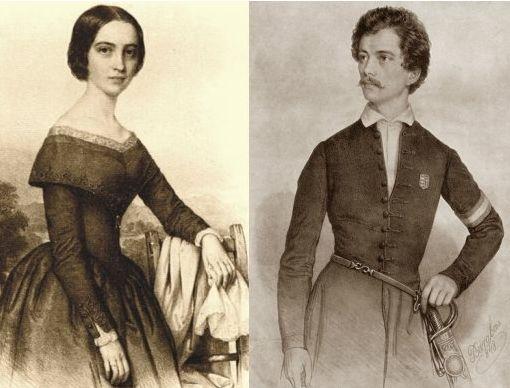 Sandor Petofi, the great Hungarian poet and revolutionary, and his wife Julia…