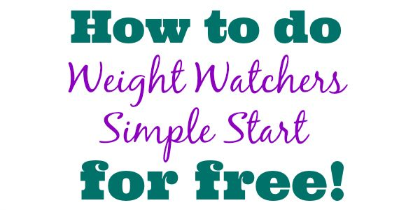 Weight Watchers is now recommending that everyone try their Simple Start program for two weeks to jump start their weight loss. The Simple Start is an easy way for you to ease into Weight Watchers ...