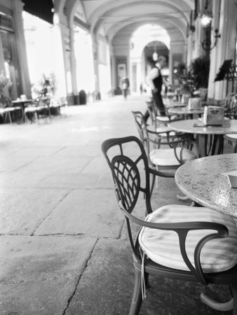 Cafe and Archway, Turin, Italy