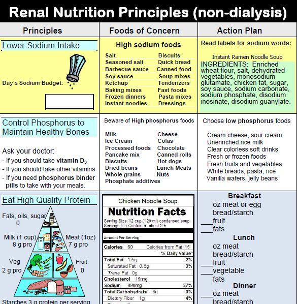 High Protein Foods On A Renal Diet List